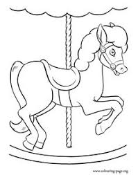 Have Fun Coloring This Nice Picture Of A Carousel Horse On The Amusement Park