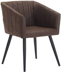 esszimmerstuhl aus stoff samt farbauswahl retro design stuhl mit rückenlehne sessel metallbeine duhome 8065 farbe dunkel braun material lederoptik