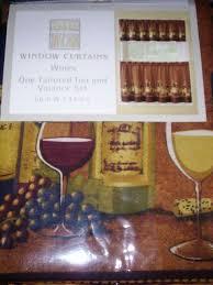 Wine Themed Kitchen Set by Beautiful Kitchen Curtains Wine Theme Taste
