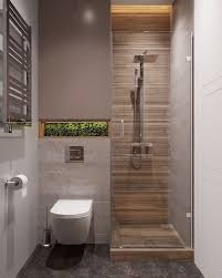 beige and grey tiled floor and walls moss covered built in
