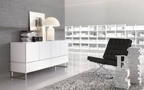 weißes sideboard in hochglanz für eine moderne einrichtung