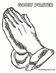 Praying Hands Coloring Page 1