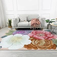 bunte 3d blumen gedruckt wohnzimmer große bereich teppiche sofa kaffee tisch balkon boden matte schlafzimmer nacht nicht slip teppiche