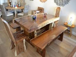 Image Of DIY Dining Table With Benches