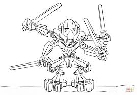 General Grievous Coloring Page Lego Free Printable Pages Download