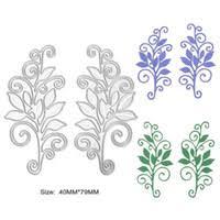 2pcs Set New Flower Vine Design Metal Steel Cutting Die Stencil For DIY Scrapbooking Album Embossing Paper Card Decorative Craft