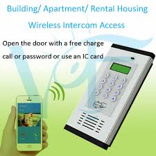 Free phone call oening apartment inter system wireless GSM 3G access control system apartment with IC card opening in Automatic Door Operators from Home