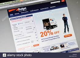 100 Budget Truck Rental Locations Website Stock Photo 35001432 Alamy