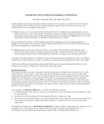 Examples Of Summaries For Resumes Example Summary Resume Samples Word Executive Statement Career