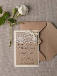 Lace Elegant Formal Save The Date