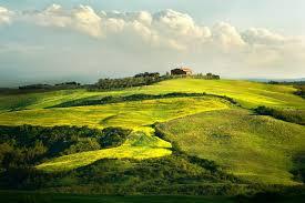 Italy Tuscany Vineyard House Wallpaper