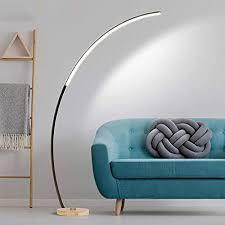 qzzz led bogenle modern stehle dimmbar mit fernbedienung augenschutz leselicht für wohnzimmer schlafzimmer 3 farbtemperaturen