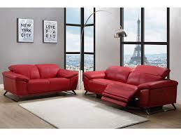 couchgarnitur leder mit elektrischer relaxfunktion 3 2 azidee rot