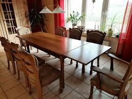 esszimmer tisch mit 8 stühlen in eiche