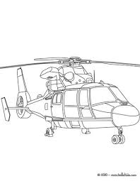 The Biggest Plane Military Helicopter Coloring Page
