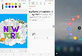 Left The PenUp App Is A Digital Colouring Book Middle Built In Notebook Shrinks Your Messy Writing So It Goes Between Lines