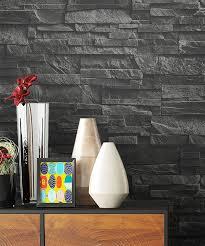 newroom vliestapete steintapete tapete schwarz steinoptik wohnzimmer ziegelstein backstein mauerwerk klinker tapete steinoptik wohnzimmer