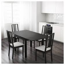 bjursta extendable table brown black 90 129 168x90 cm ikea