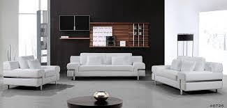 Divani Casa Clef Modern White Leather Sofa Set