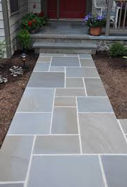 Inexpensive Patio Floor Ideas by Awesome Bluestone Pavers For Pathway In Patio Design Ideas