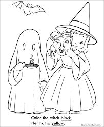 Kids With Halloween Costume Coloring Page