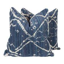 Navy Tribal Ikat Pillows