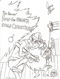 Christmas Tree Coloring Page Print Out by The Grinch Who Stole Christmas Coloring Pages How The Grinch Stole
