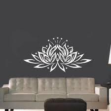 große größe lotus blume vinyl wand aufkleber kreative design wand decals für wohnzimmer schlafzimmer decor
