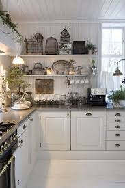 FRENCH COUNTRY COTTAGE Vintage Cottage Kitchen Inspirations Note To Cee Bead Board On Walls And Ceiling Of Very Simple Shelvinglove The