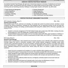 100 Assistant Project Manager Resume Construction Job Samples