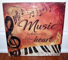 Piano Keyboard Music Is Voice Canvas 4 Your Home Interior Wall Art Decor New