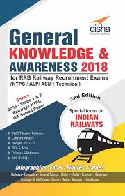 General Knowledge Awareness 2018 For RRB Railway Recruitment Exams NTPC ALP ASM