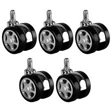 Good Buy 5pcs Universal Mute Caster Office Chairs Nylon Replacement ... Amazoncom Opttico Office Chair Caster Wheels Replacement Black 3 Set Of 5 By Lehawk Universal Heavy Rollerblade Casters For Herman Miller Aeron 6pcs Wheel Swivel Mute Hard Soft Pu Castor For Timber Floor Pack Duty Stem Roller 3inch 1pcs 40kg 2 Improv Carpet Floors Slipstick Foot Desk No Without White Luxura Computer With Which One Should I Choose