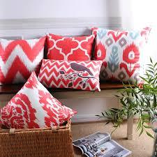 skandinavischen dekorative kissen fall geometrische kissen abdeckung wohnkultur samt kissen wohnzimmer rot kissenbezug für sofa