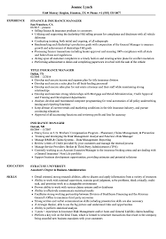 Download Insurance Manager Resume Sample As Image File