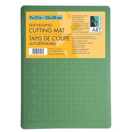 "Art Alternatives Cutting Mat - Green and Black, 9""x12"""