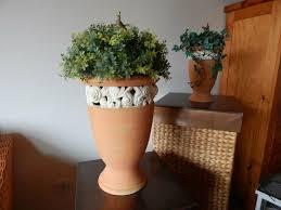 2 große blumentöpfe wohnzimmer schlafzimmer pflanzen kerzen