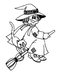 Halloween Witch Coloring Pages 2