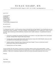 Nursing Resume Cover Letter Examples Nurse Example Job Sample RN