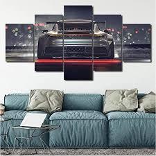 tkkxqt leinwanddrucke 5 stück luxus auto malerei wohnzimmer hd poster wohnkultur wandkunst kein rahmen größe a