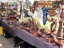 Wood Carvings Crafts At Fair Maui