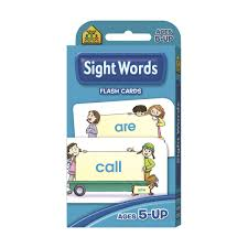 School Zone Sight Words Flash Cards Kmart