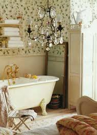 Suitable Shabby Chic Bathroom for Any House Brown Laminated Wooden