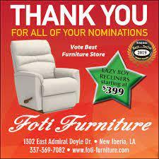 100 Foti Furniture Thursday June 27 2019 Ad The Daily Iberian