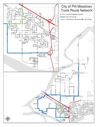 100 Truck Route Map S City Of Pitt Meadows