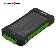 X DRAGON Solar Battery Charger Solar Power Bank mAh for