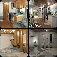 Renovating Small Houses Before And After Pictures Of A Kitchen Renovation Camper Makeover Kitchens