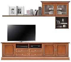 arteferretto tv wohnwand klassisch aus holz tv lowboard