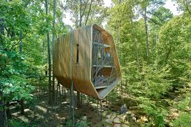 100 Tree House Studio Wood Futuristic Treehouse In Arkansas Is Designed To Inspire