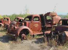 International Pickup Trucks And Flatbeds From The 1930s Rusting ...